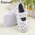 Fashion Chic Girl Slip-On Sneaker Toddler Kid Comfy Polka Dots Pu Leather Baby Shoes 0-12 M