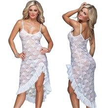 Sexy Lingerie Peignoir Mid Dress G string Set Plus Size Erotic Sexy Lingerie Women s Sleepwear
