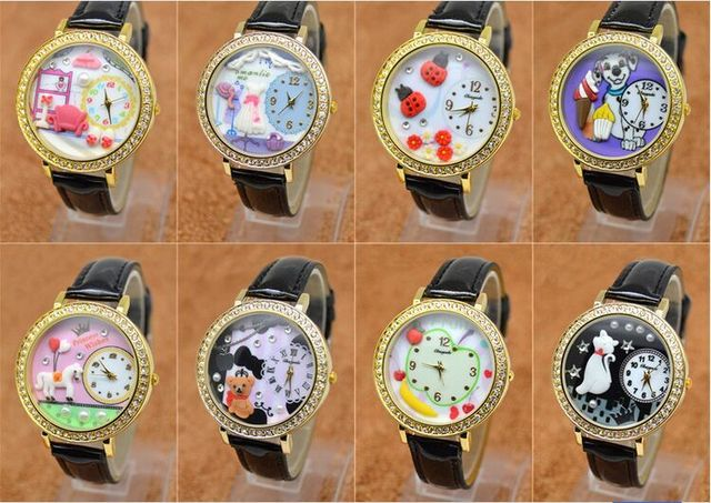 polymer clay bear cat dog beetle chocolate girl students watch European and Amer
