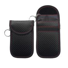 Car Key Shielding Bag Carbon Fiber Information Anti-theft Anti-scanning Key Shielding Bag Shielding Vehicle Key Signal Black crocodile pattern anti radiation signal shielding protective pu bag case for mobile phone brown