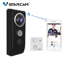 Vstarcam 720P Video Doorbell Camera WiFi Visual Doorbell Call Intercom Infrared Night Vision Door Bell Security Monitoring cheap Wireless Photograph None Dry battery Buzzer Hisilicon 720p VGA QVGA 166 degree F2 8 aperture 1 4 CMOS sensor WIFI 2 4G