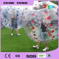 Бесплатная доставка 1.5 м ПВХ Zorb надувные человека бампер bubble Футбол мяч Loopy бал для наружной весело спорта