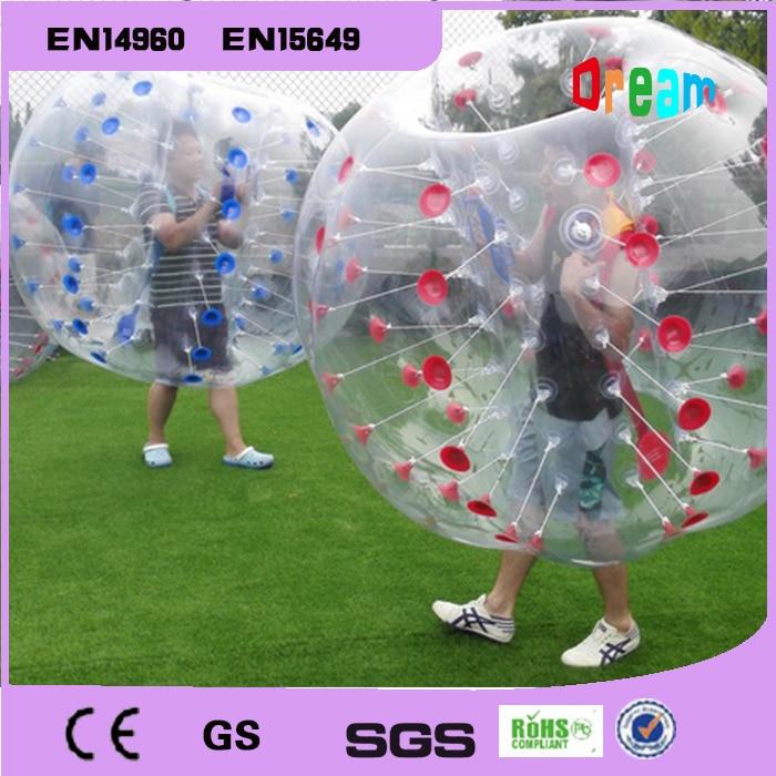 شحن مجاني 1.5 متر pvc zorb الكرة نفخ الإنسان الوفير فقاعة كرة القدم الكرة معتوهون الكرة للخارجية متعة الرياضة