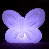 Butterfly LED Desk Light USB Rechargeable Table lamp IP68 Waterproof Bar Party Home Lighting RGB Night Lamp with Remote Control