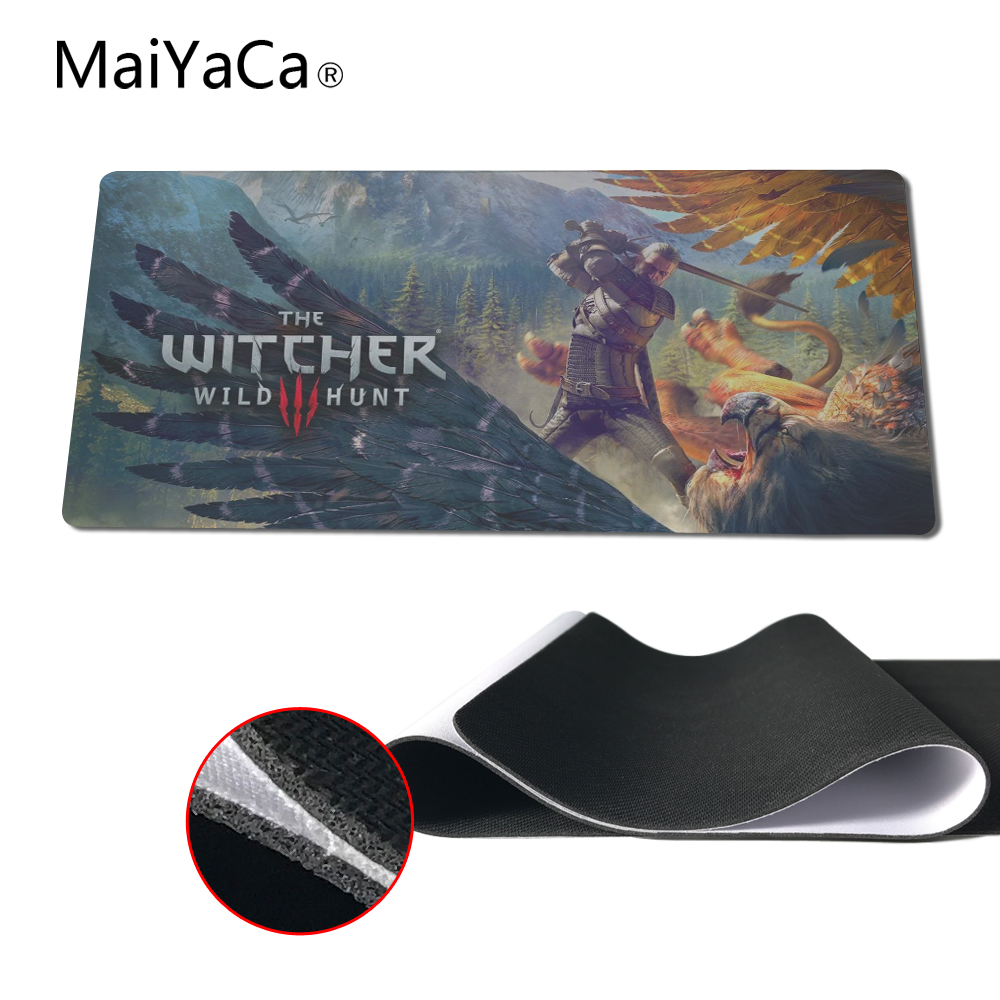 MaiYaCa Witcher 3 Wild Hunt Logo Soft Large Rectangle Mousepad Hot Selling High Quality for Optical Computer Gaming Mouse Mat