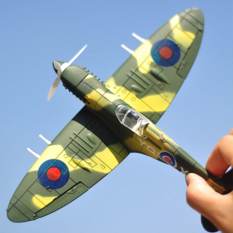 20*18 سنتيمتر تجميع مقاتلة نموذج اللعب بناء أداة مجموعات الطائرات القتالية دييكاست الحرب الثانية BF-109 إعصار Spitfire القراصنة العسكرية