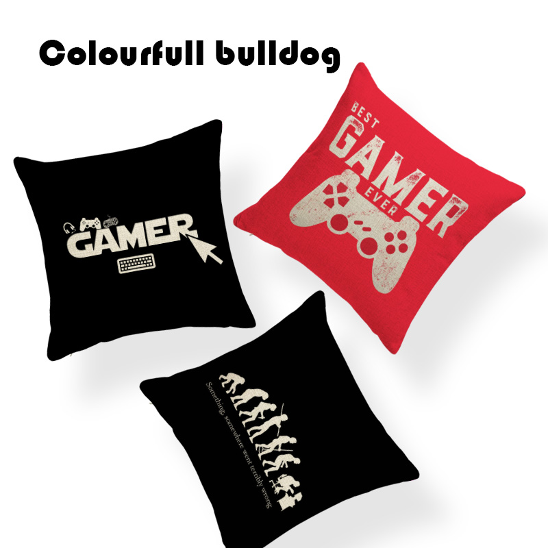 Luxury Freelancer Gamer Cushion Covers Evolutionary Theory Pilow Office 45X45Cm Linen Car Home Decorative Throw Pillow Covers
