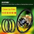 Zomei Макрос Закрыть Фильтр для Sony Nikon Canon EOS DSLR D3300 D5100 D5200 D7100 D7200 Объектив Filter-52/55/58/62/67/72/77/82 мм