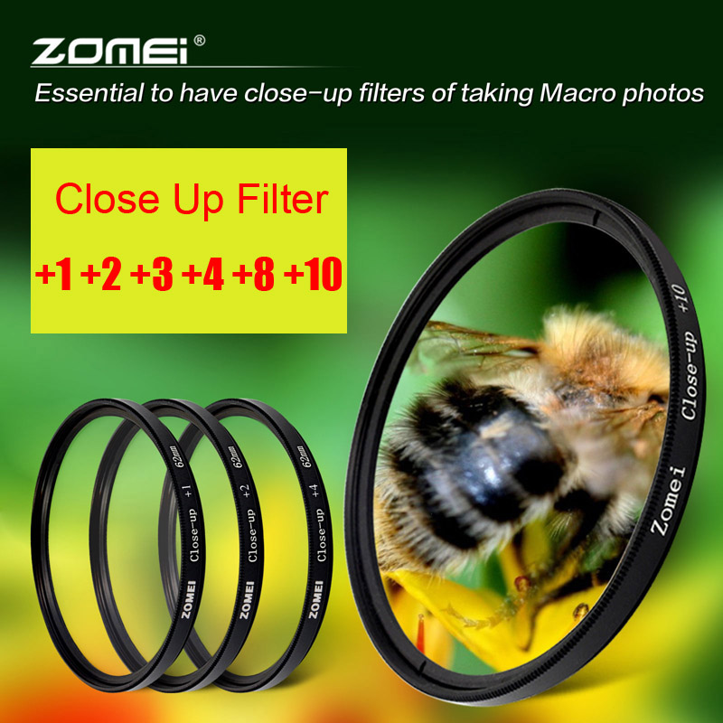 Zomei Macro Close Up Filter für Sony Nikon Canon EOS DSLR D5200 D3300 D5100 D7200 D7100 Objektiv Filter-52/55/58/62/67/72/77/82mm