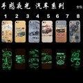 Casos para iphone se 6 s plus elefante resplandor tapa dura clásico coche viejo teléfono sensación de relieve luminoso caso para iphone 6 5S Plus
