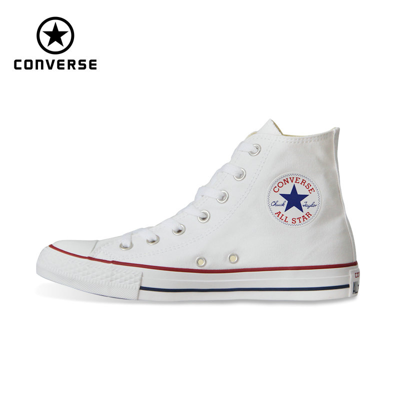 new Original Converse all star shoes men's and women high classic sneakers Skateboarding Shoes white black color 101010