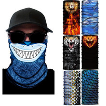 Digital Printing Magic Variable Scale Marine Animal Fish Seamless Outdoor Sports Headscarf