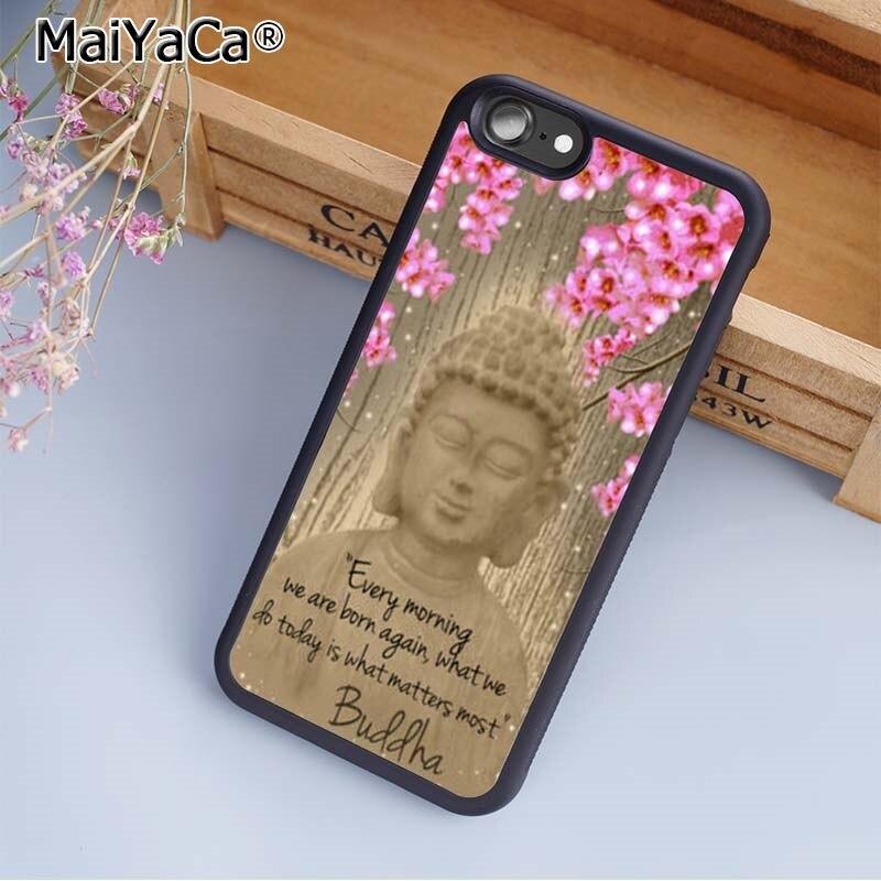 MaiYaCa Buddha statue inspiring life quote phrase Phone