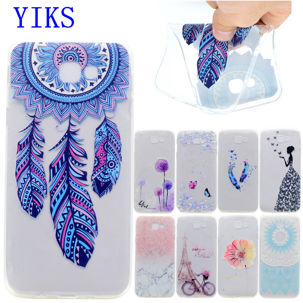 A7 2017 TPU Soft Case For Coque Samsung Galaxy A7 2017 Transparent Colored Drawing Soft Silicon Back Cover For Samsung A7 Case