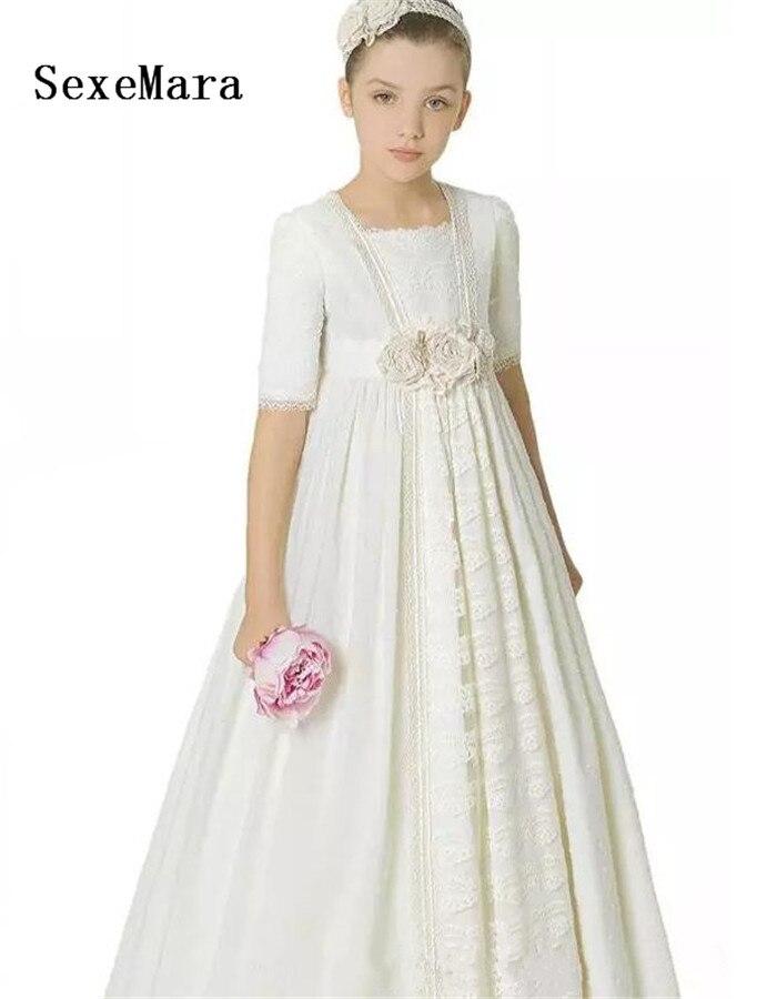 f1fc2d45c5c5 Princess Vintage Lace Flower Girls Dresses Girl Pageant Party Dress ...