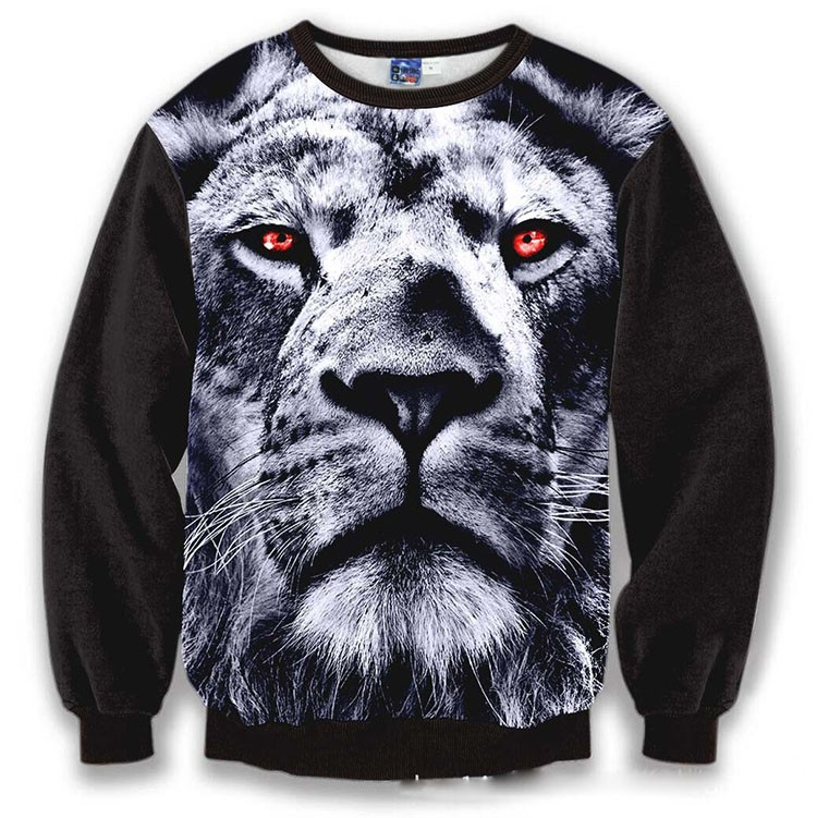 Menwomen 3d sweatshirts new designed Surprised Frankenstein hoodies funny print animals dog lion tops pullover sport tracksuits (26)
