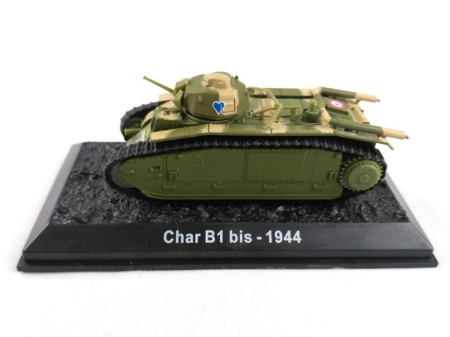 Clearance Special Price 1:72 Scale France CHAR b1 bis 1944 Alloy Tank Model Alloy Models Collection Home Decoration