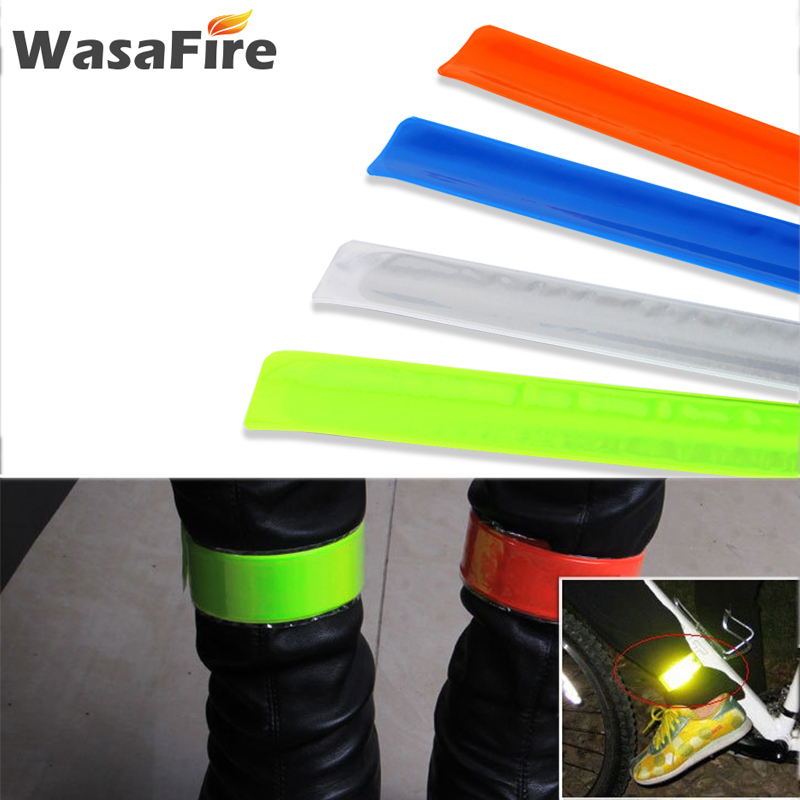 Hot sale Bike Stickers Running Cycling Reflective Strip Safety Warning Light Bicycle Bind Pants Leg Strap Reflective Tapes