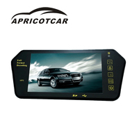 2017 New 7 Inch Car Rearview Mirror High Definition Bluetooth MP5 Display Hexagonal Diamond Rearview Mirror