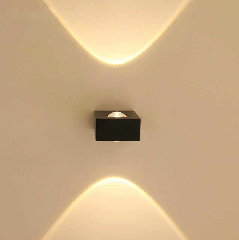 Modern led wall light 6w up and down outdoor lighting lamp for Wohnzimmerleuchten led modern