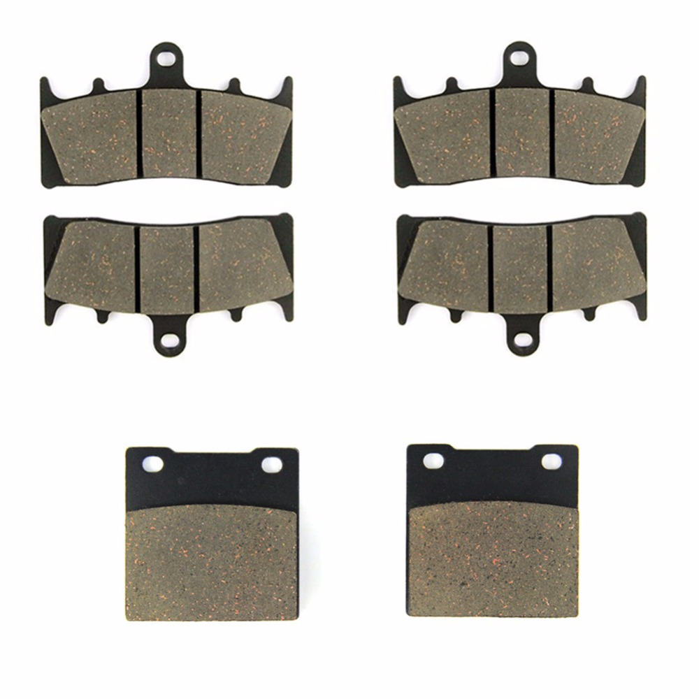 SOMMET Motorcycle Front + Rear Brake Pads Disks for Suzuki GSF <font><b>1200</b></font> <font><b>Bandit</b></font> (SK/K) (2001-2005) <font><b>GSF1200</b></font> LT188-188-63 image