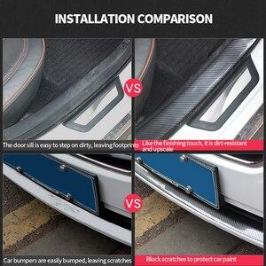 Image 5 - Protector de puerta de coche pegatinas de goma de fibra de carbono 5D, a prueba de arañazos, protección de umbral de puerta automática, productos de moldura, estilo de coche