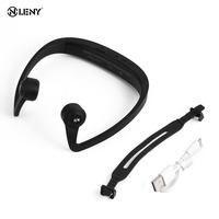 Hot V9 Ear Hook Bone Conduction Bluetooth 4 2 Sports Headphone Headset With Mic Adjustable Headband