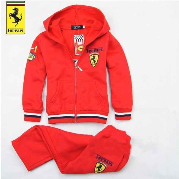 Children Clothing Sets Spring Autumn Girls Boys Sports suit Hoodies+Pants Twinset Kids Brand Hooded Tracksuit 2-7 yrs Red Gray
