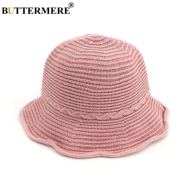 BUTTERMERE Pink Ladies Bucket Hat Ruffles Summer Spring Designer Sun Hats  Beach Female Fishing Caps Kawaii Foldable Stylish 92f664e432c