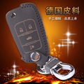 Genuine Leather Car Key Cover Holder Ring For Chevrolet Aveo Malibu Captiva Leather Key Cover Case 4 Buttton Keychain Car Key