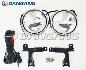 Free shipping!LED Front bumper lights LED Grille Daytime Running Lights DRL case for BMW MINI Cooper, Chrome Version