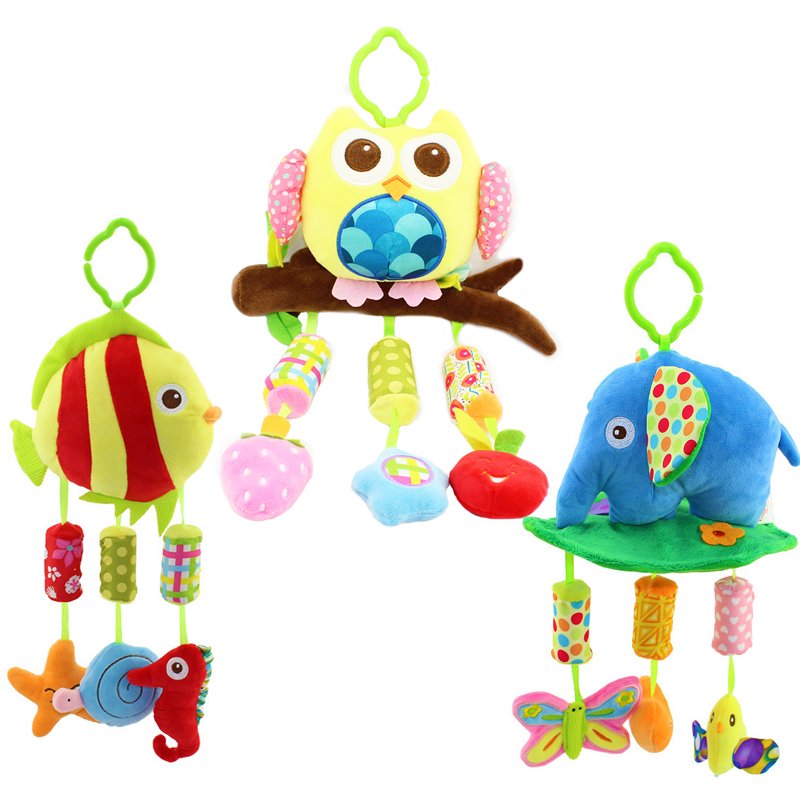 Newborn Infant Baby Toys Soft Mobile Bed Bell Tots Stroller Crib Hanging Rattles Musical Educational Toys Campanula Sound Ring