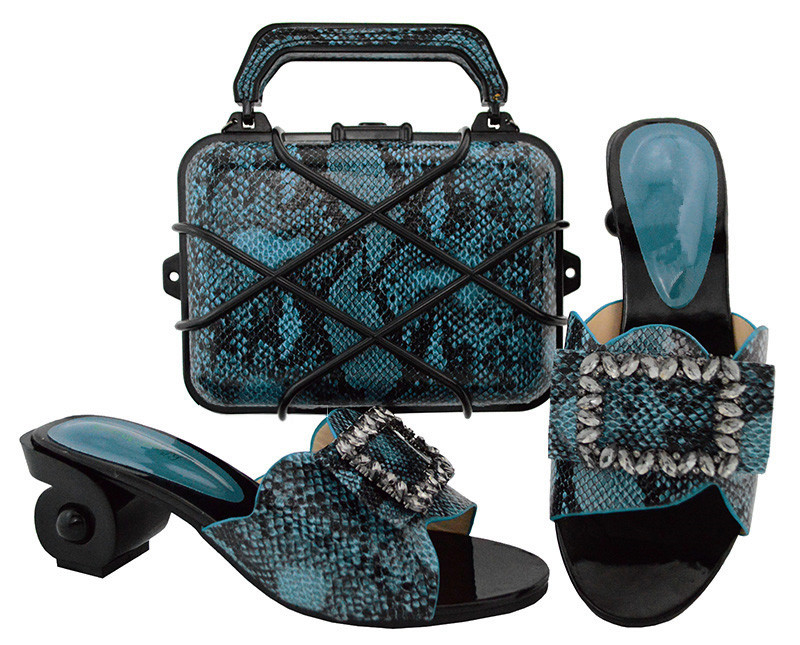 Fashionable party set matching shoes sand evening handbag set GL02 heel height6.5cm