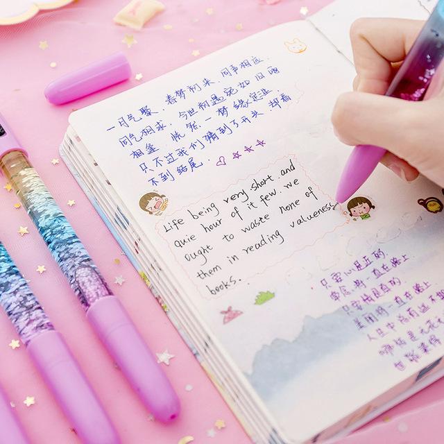 Creative 0.38 mm gel pens school supplies girl gift flash cartridge penne gel canetas muji pentel energel kawaii gel pen