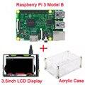 """Raspberry Pi 3 Модель B + 3.5 дюймовый ЖК-Дисплей Модуль 3.5 """"TFT Сенсорный Экран + Акриловый Чехол прозрачный чехол Также поддержка Raspberry Pi 2"""