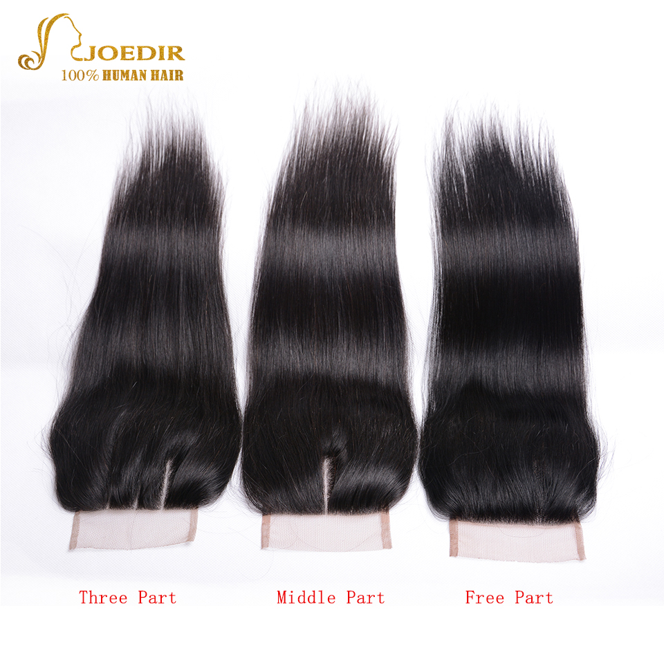 Joedir Brazilian Straight Hair Bundles With Closure 3 Bundle Deals 4 - Skönhet och hälsa - Foto 4