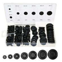 лучшая цена 170Pcs Black Rubber Grommet Firewall Hole Plug Retaining Ring Set Car Electrical Wire Gasket Kit For Cylinder Valve Water Pipe