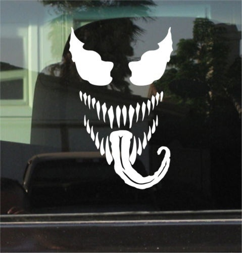 Vinyl Sticker 17.5x11.25cm Reasonable Price Orderly Venom spiderman