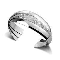 Fashion silver wide bracelet.Solid 925 silver women bracelet.Personality multi level bracelet.Charming lady silver jewelry