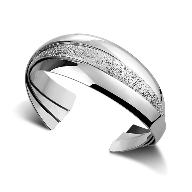 Fashion silver wide bracelet.Solid 925 silver women bracelet.Personality multi-level bracelet.Charming lady silver jewelry
