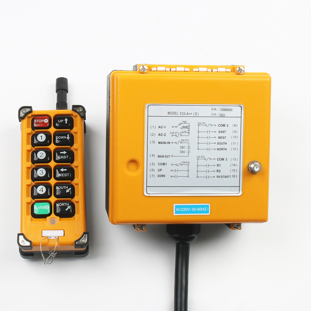 Image 2 - 220VAC 12V 24V 36V 380V Wireless Crane Remote Control F23 A++S Industrial Remote Control Hoist Crane Push Button Switch-in Switches from Lights & Lighting