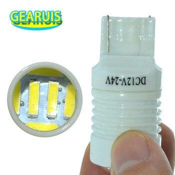 100pcs T20 7440 7443 Ceramic Lens 6 SMD 7020 LED 6W White Red Car auto lamp Turn signal light brake lights Backup DRL 12V-24V
