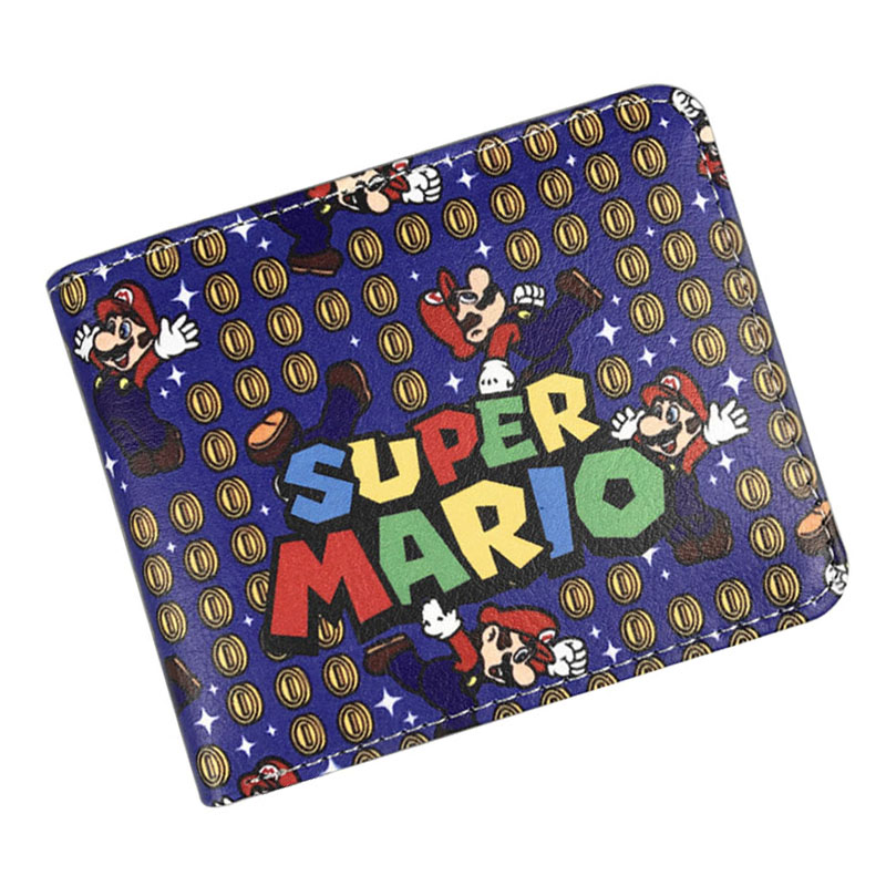 Kawaii Super Mario Print Wallets Men Women Games Featured Purse PU Leather Card Holder Bags carteira Gift Young Short Wallet hot selling super mario wallets kawaii cartoon anime purse gift for teenager boy girl money bags leather short carteira wallet