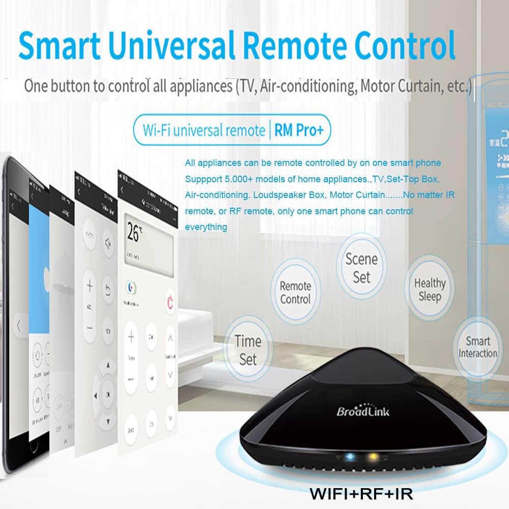 Oryginalny Broadlink RM Pro + 2019 nowy RM33 RM Mini3 inteligentnego domu WiFi + IR + RF uniwersalny inteligentny pilot dla z systemem Android Ios