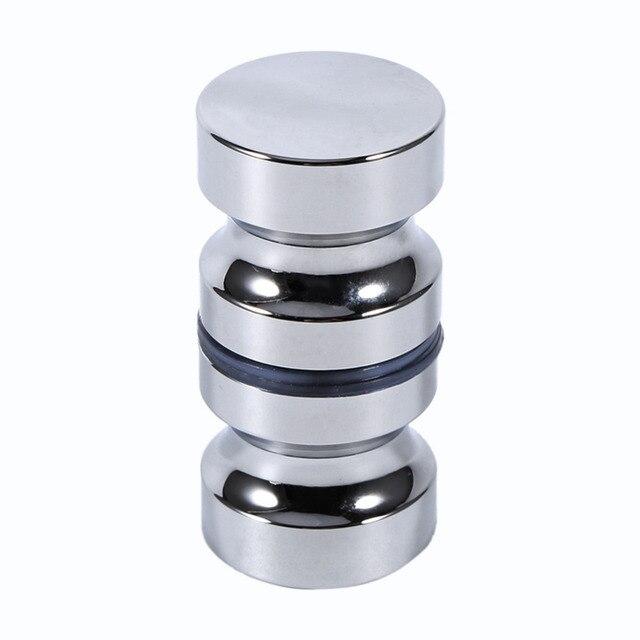 Aluminium łazienka prysznic szklane klamka do drzwi pokrętło z pojedynczym rowkiem klamki dla Akcesoria do drzwi 30mm