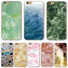 TPU Крышка Для Apple iPhone 4 4S 5 5S SE 5C 6 6 S 6 Плюс 6 S + Случаи Новое Прибытие Красивый Мраморный Камень Изображения Окрашены Горячей продавать