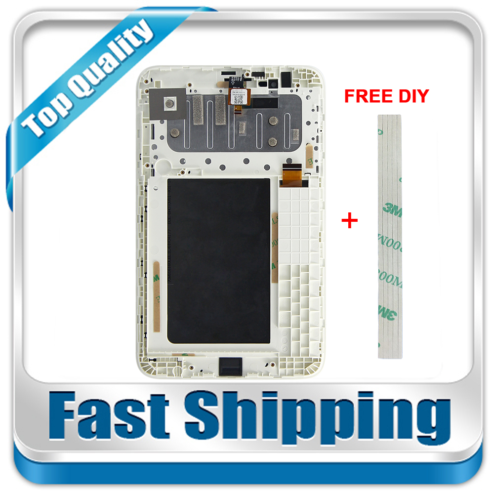 New For Lenovo Tab A7-30 A3300 A3300T A3300-GV A3300-HV Replacement LCD Display Touch Screen Digitizer with Frame Assembly White for htc desire 816g desire 816h d816g d816h lcd display with white digitizer touch screen frame assembly 100% warranty
