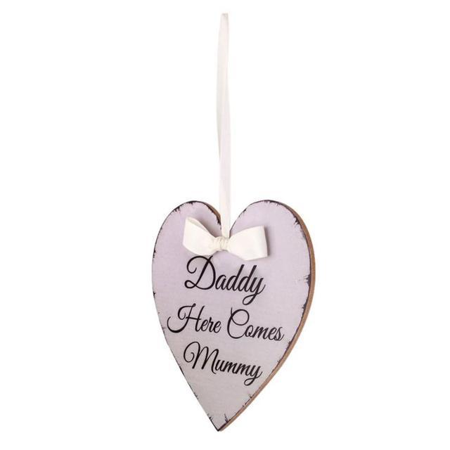 Plaque décorative en forme de cœur avec papa come | Plat en forme de cœur, bricolage, artisanat découpé au Laser, ornements rustiques de mariage