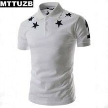 MTTUZB Summer new style men fashion star printed tops man casual slim polo shirts men's leisure short sleeve tees clothes M-XXL