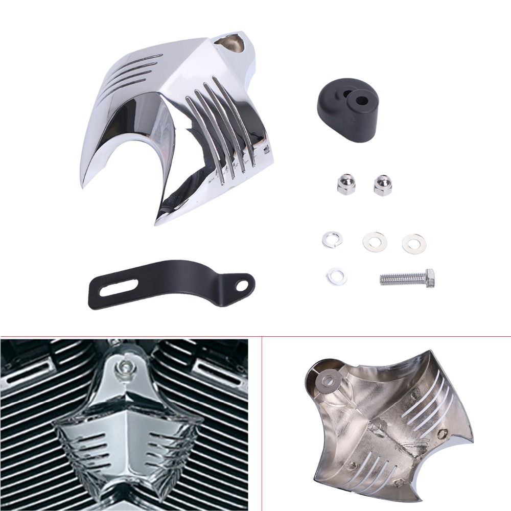 Motorcycle Chrome Horn Cover For Harley Davidson Dyna Softail Sportster Electra Road King Street Tour Glide C/5 universal motorcycle handlebar cup holder chrome metal drink for honda kawasaki harley davidson tour dyna sportster fat bob